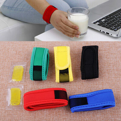 Anti Mosquito Bug Insect Repellent Bracelet Wrist Band 2 Refills Camping Outdoor