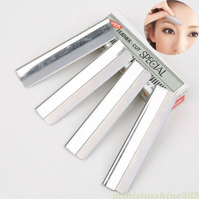 Eyebrow Razor Blades Handle Straight Edge Stainless Steel Knife Remover Hair