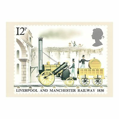 Liverpool And Manchester Railway 1830 - Phq 42 Royal Mail Postcard