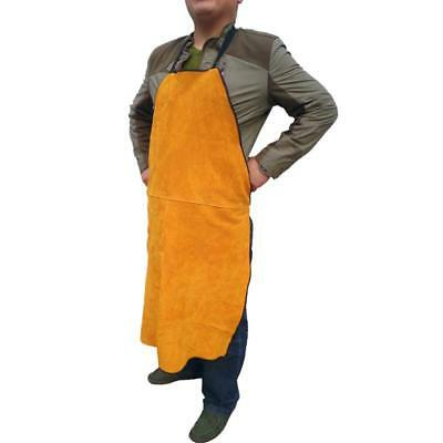 New Safe Welder Apron Heat Insulation Cow Leather Heavy Duty Welding Protection