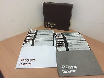 "Dysan Diskette 8"" Floppy Disks Box Of 20 Retro Vintage Used Un Tested"