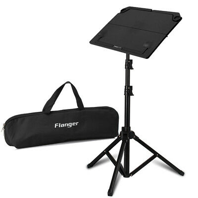 Adjustable Metal Sheet Music Stand Holder Foldable Black