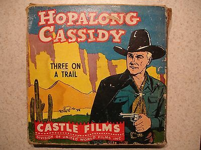 16MM Castle Films Hopalong Cassidy #561 Three on a Trail, Complete Edition