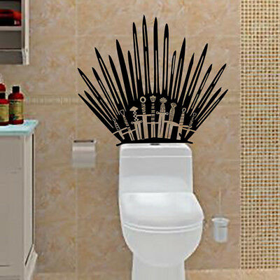 Game Of Thrones Wall Decal Iron Throne Home Decor Art Mural Vinyl Wall Sticker
