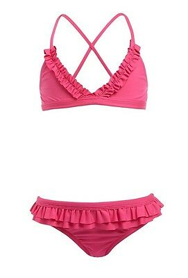 Melissa Odabash Baby Girls Kids Pink New York Cross-Back Bikini 4 Years