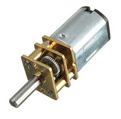 DC6V N20 50-300RPM Micro Speed Reduction Gear DC Motor with Metal Gearbox Wheel