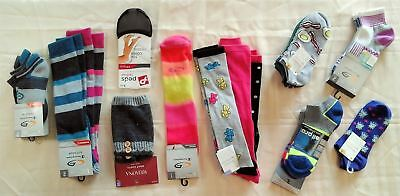 Wholesale Lot of 51 Womens Socks Packaged and Singles Mixed Styles Brand New