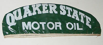 Quaker State Motor Oil Cap Attendants Coated Hat Vtg