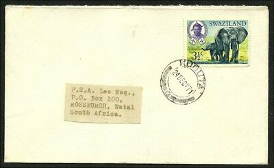 (5078) Swaziland 1971,  clear cds  KUBUTA  on cover