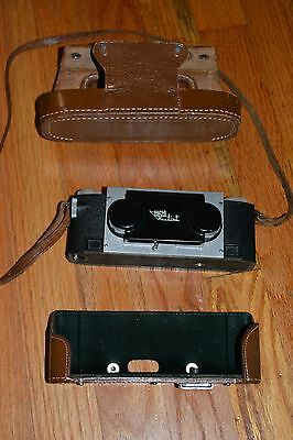 STEREO REALIST Camera F 3.5 DAVID WHITE LENSES with Original LEATHER Case, Lens