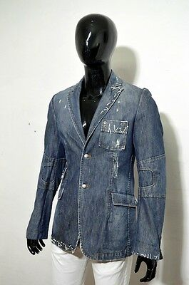 Giacca in jeans Jacket COSTUME NATIONAL JEANS UOMO Tg 34 Denim Scuro Top Affare