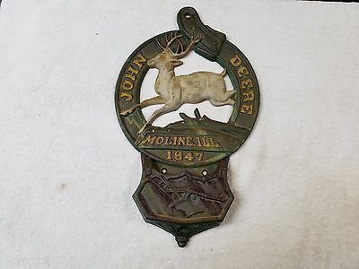 "VTG. 17 1/2"" John Deere Moline Ill. 1847 Hanging Mail Holder"