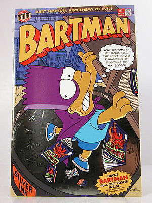 BARTMAN #1 W/FOIL COVER, Bongo Comics 1993 - W/Giant Pull Out Poster Inside