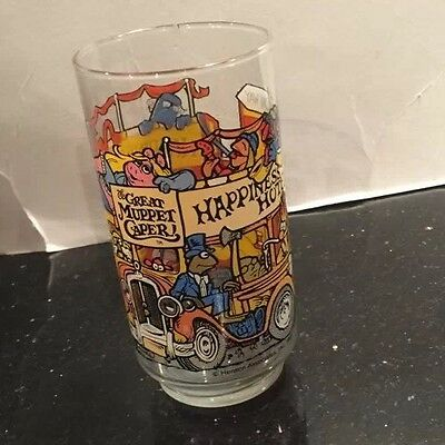 VINTAGE! 1981 McDonald's The Great Muppet Caper Glass-Happiness Hotel Glass