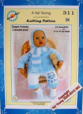 Daisy May Dolls Knitting Patterns : DOLLS KNITTING PATTERN FOR ANNABELL or 16