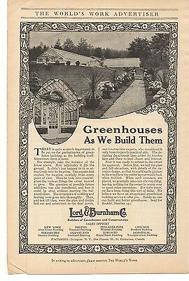 1916 Lord & Burnham Co. - Greenhouse and Conservatories Advertisement