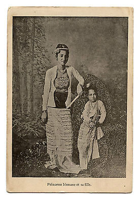 Supalayat Princesse Birmane Et Sa Fille.princess Burma And His Girl.