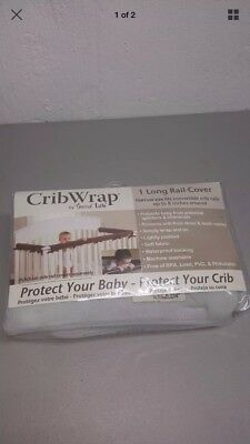 Crib Wrap by Trend Lab 1 Long Rail Cover Narrow Size Gray Free Shipping