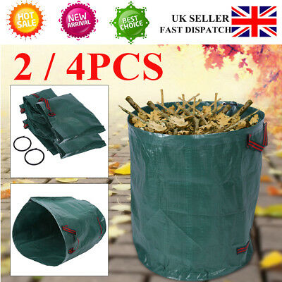 4 x 270-Litre Large Garden Waste Bags Rubbish Sacks Recycling Heavy Duty UK New
