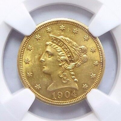 1904 $2.50 Liberty Head Gold Coin MS 61 NGC Certified * Quarter Eagle *