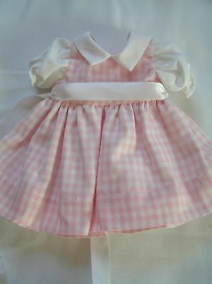 Pink Gingham   Doll Dress for P-90 14 Inch  Toni Doll