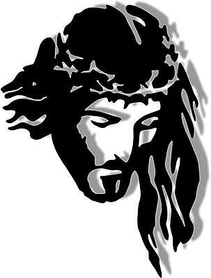 DXF CNC dxf for Plasma Router Clip Art Vector Jesus Thorns Man Cave