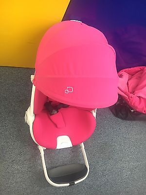 Quinny Moodd Seat Unit  Pink Passion & Sun Canopy Used