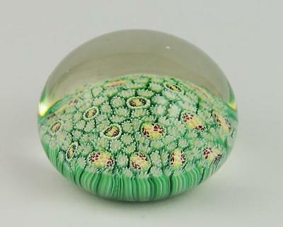 Antique GREEN GLASS PAPERWEIGHT c1900