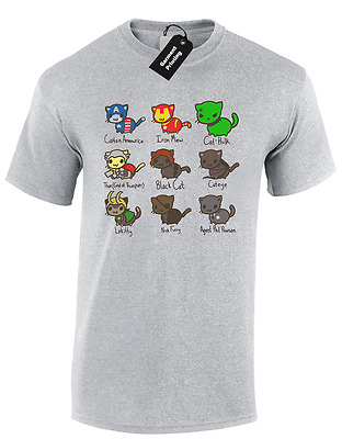 7a8a8f71 Cat Avengers Kids Childrens T Shirt Top Thor Hulk Boys Iron Gift Man Cool  Funny