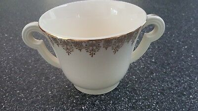Edwin Knowles KNO68 Sugar Bowl Gold Filigree Rim Smooth USA