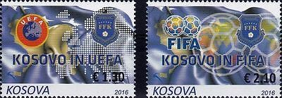 Kosovo Stamp 2016. Sport, Football, Kosovo in FIFA and UEFA. Set MNH.