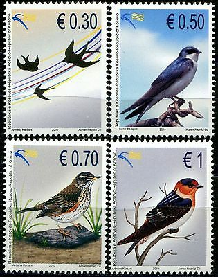 Kosovo Stamps 2010. Birds. Set MNH.