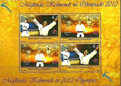 Kosovo Stamps 2012. Olympic Games - London. Majlinda Kelmendi. Souvenir sheet