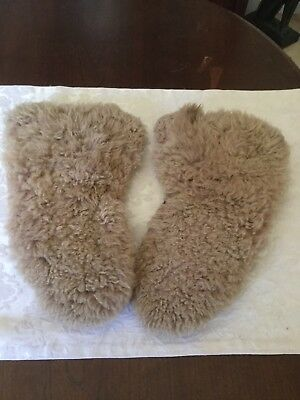 Antique Fur Mittens Very Old, Hand Made early 1940's.