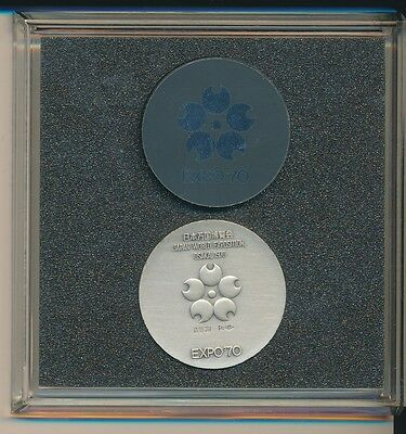 1970 Japan World Exposition Osaka Commem Silver Medal .925 Fine-Shipping Free!