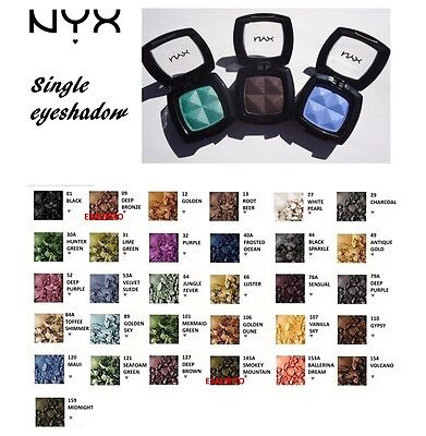 Nyx Single Eyeshadow * Colori Assortiti * Super Offerta!