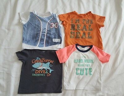 Lot of 4 Toddler Boys 18 Month Shirts Carters First Impressions