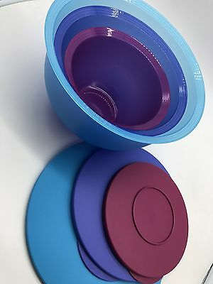 ++NEW++ TUPPERWARE 3 pc IMPRESSIONS CLASSIC BOWL SET 18, 10, 5 1/2 cup Nesting