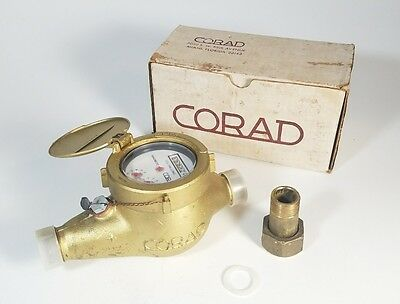 "Corad Water Meter 5/8"" x 3/4"" Magnetic Gallons ""Isreal"""