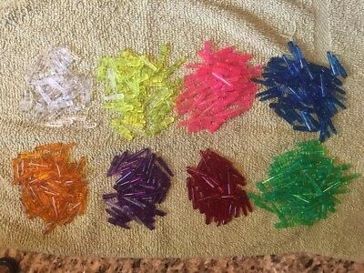 Lot Of 411 Light Brites Pegs, Lite Brights, 8 Colors
