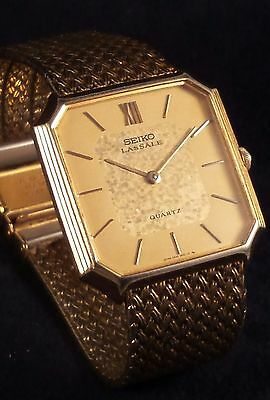 Vintage 1980 LASSALE  5930- 5209 6 Jewel dress watch.