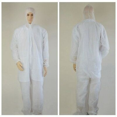Disposable Coveralls White Dust Spray Suit Siamese Non-woven Dust-proof Clothing