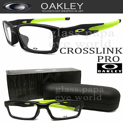Oakley Crosslink Black Eyeglasses OX3149-0156 56mm Satin Black / Retina Burn NIB