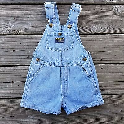 vintage OSHKOSH light wash denim overalls 3T VESTBAK made in USA 100% cotton
