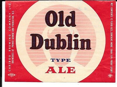Old Doblin Type Ale Label from Canada