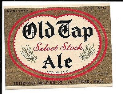 Old Tap Brand Select Stock Ale Label