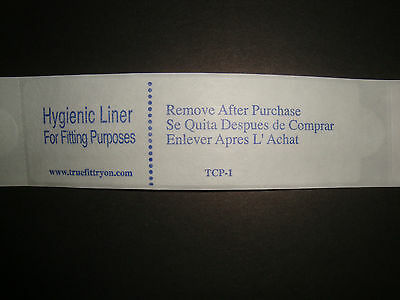 New True Fit Hygienic Liners Try-on Swimsuit Protective Adhesive Strips Qty 50
