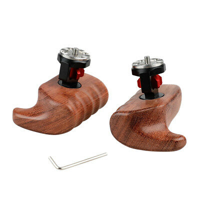 Wooden Handle Grip (left & right) Stabilizer with ARRI Rosette Mount For Camera