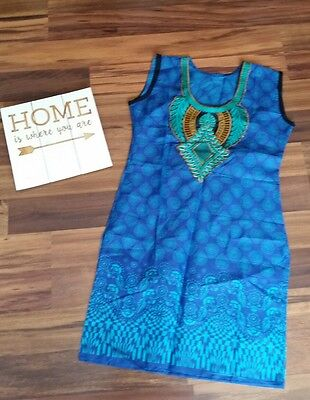 Indian Bollywood Kurta Kurti Handmade Women Ethnic Tribal Dress Tunic Pakistani