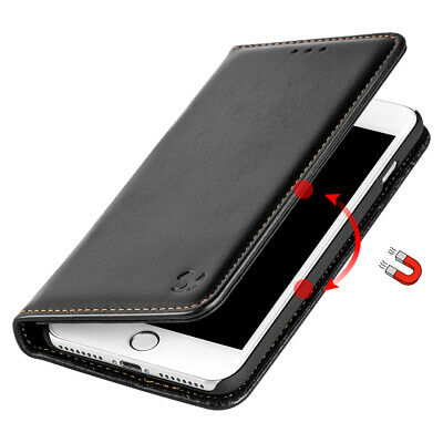 Black Removable Leather Flip Wallet Case Protective Cover For iPhone 6 7 8 Plus